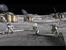NASA Exploration Game : Moonbase Alpha Game ScreenShot -- Repairing the Life Support System