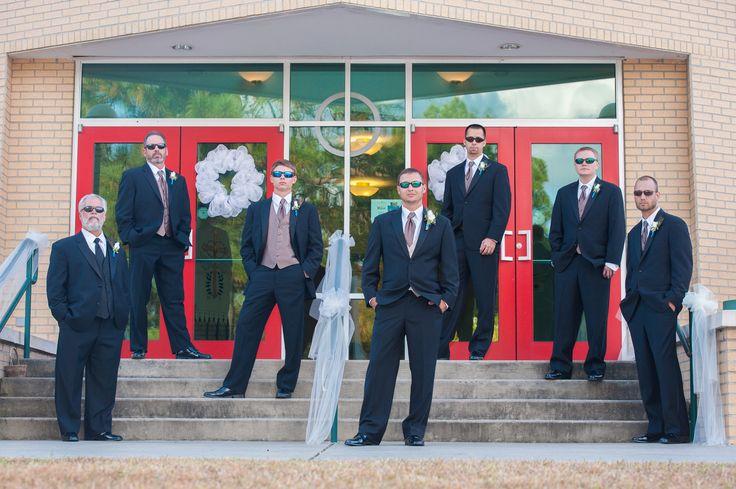 Groomsmen wedding attire Stylish groomsmen