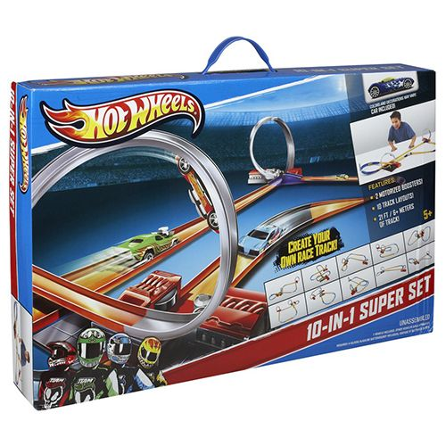 Hot Wheels 10-in-1 Track Set | Kids Cool Toys