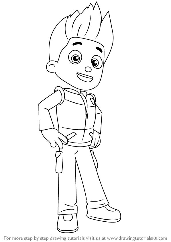 how to draw rubble from paw patrol