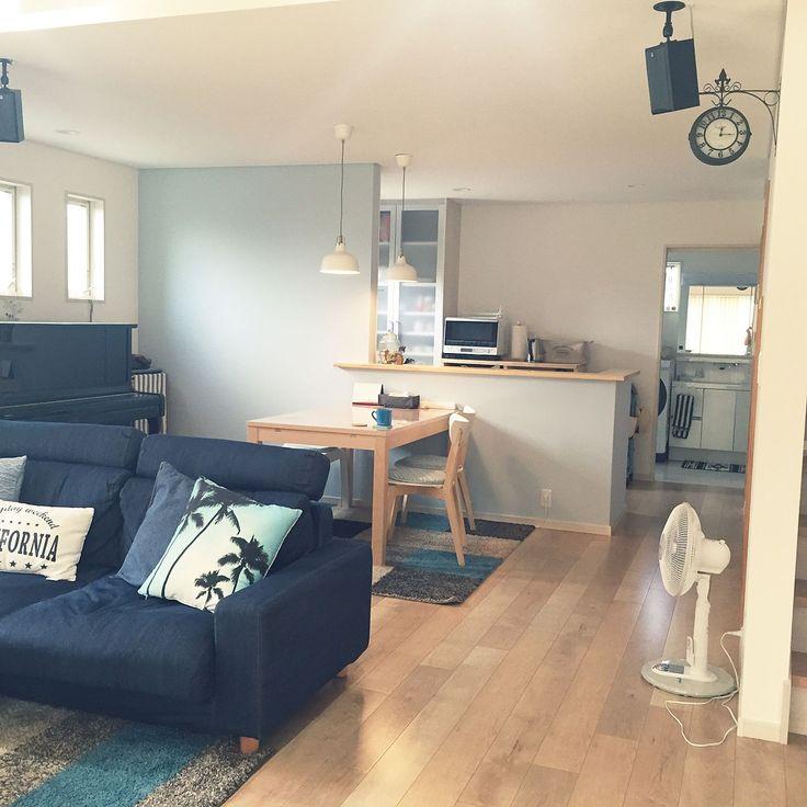 Lounge/ピアノ/デニム/シンプル/ピアノがある部屋全体/IKEA 照明...などのインテリア実例 - 2016-09-03 03:32:41