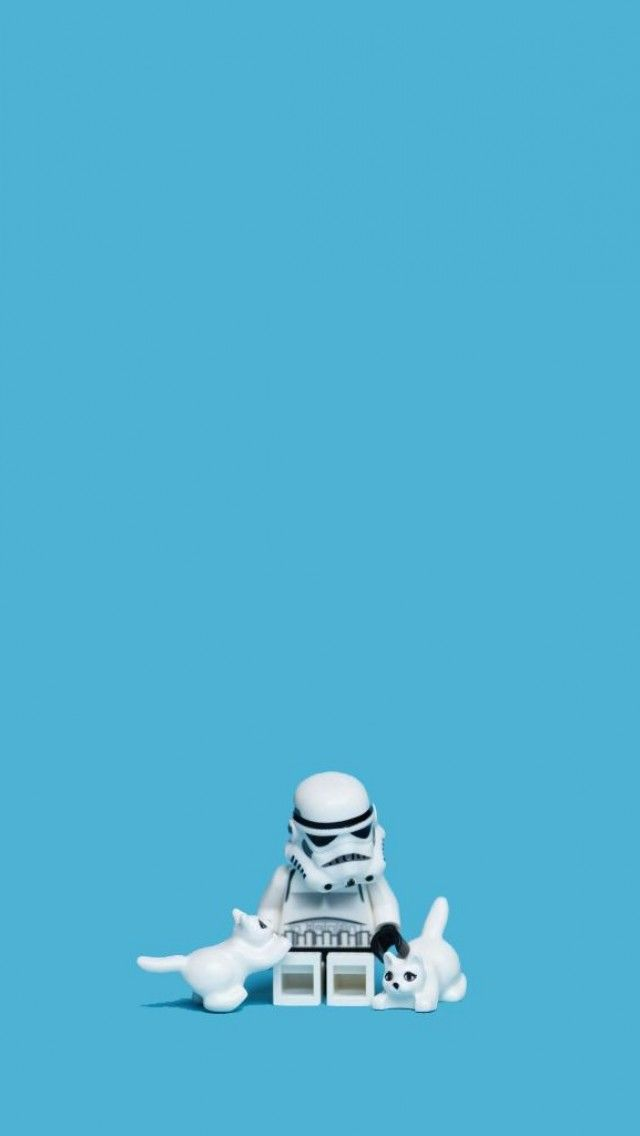 Cute Little Stormtrooper Lego C Star Wars Wallpaper