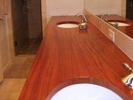 Jatoba Face Grain Vanity Countertop