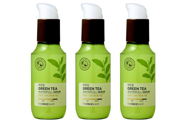 THE FACE SHOP Baby Leaf Green Tea Waterfull Serum