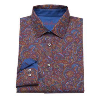 Van Heusen Studio Slim-Fit Paisley Button-Down Shirt