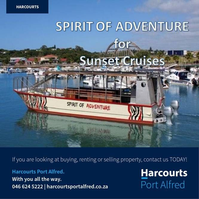 "Thinking of a river cruise? Why not contact Halyards Hotel and book a trip on ""The Spirit of Adventure"" http://www.riverhotels.co.za/hotelname=Halyards%20Hotel%20a… #PortAlfred #KowieRiver #HalyardsHotel #RiverHotels #WhatToDoInPortAlfred #PortAlfredandSurrounds #HarcourtsPortAlfred #RiverCruises"