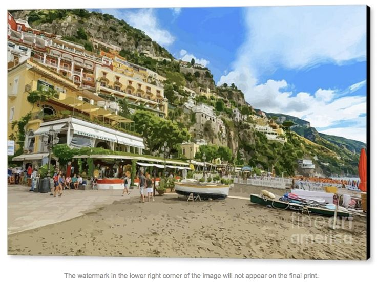 The tourists pour in to this authentic destination on the Italian Amalfi Coast. A great spot for a restaurant! Selfies galore! Would you like to join them?