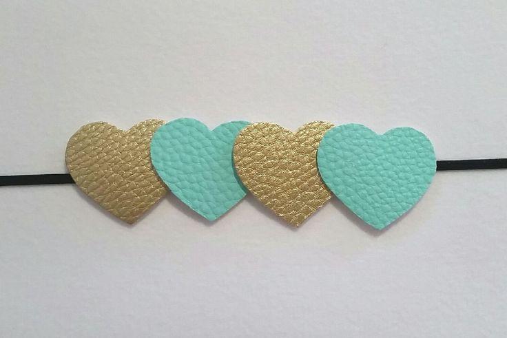 SALE! Heart Headband - Faux Leather Headband - Baby Girl Headband - Any Occasion by HomemadeCreationsVG on Etsy