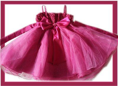 Roze droomjurk met glinsterende tule rok mt 110/11