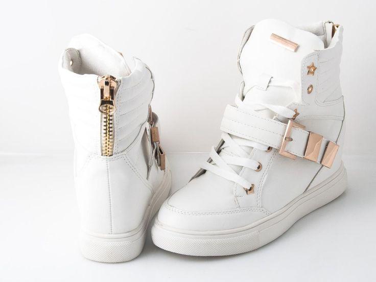 White sneakres gold  Kot w butach women shoes