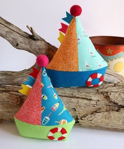 """""""Little Boats"""" designed by Jodie Carleton for Ric Rac."""