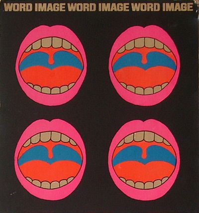 Word Image Word Image Word Image. By Tadanori Yokoo 1968