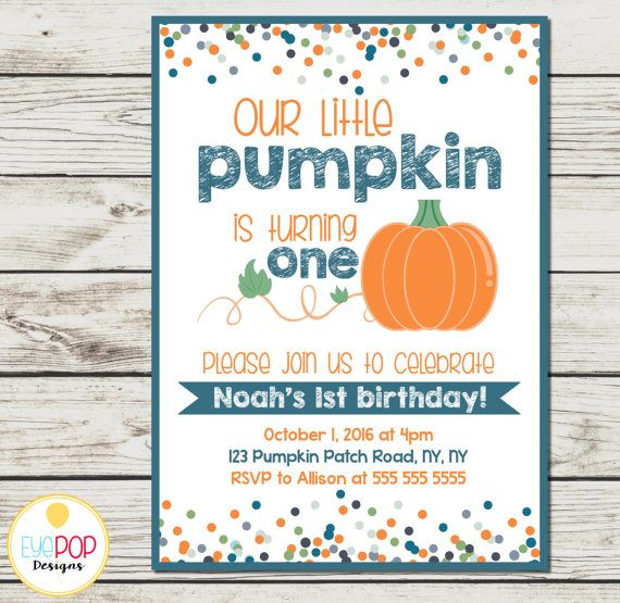 Celebrate your sweet little pumpkins first birthday with a cute fall-themed…