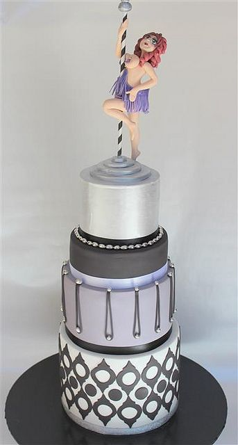 Pole Dancer Cake Design : 17 Best images about Naughty but Nice Girls Themed Parties ...