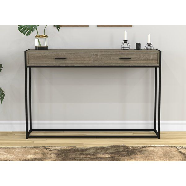 Stroud Metal Console Table With Images Metal Console Table