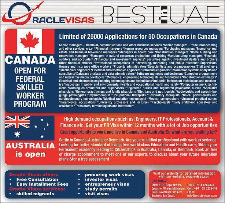 OracleVisas is more than a professional in the process of Immigration services. Our assistance or guidance does not stop with the success of getting a visa. With our experienced guidance, we make sure that all our client's requirements from travel arrangements to the resident country to settling in a new country are met. This successful aspect has made us one stop solution provider for all types of immigrations. We are immensely popular among our clients.