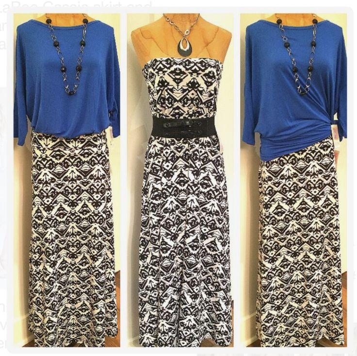 Maxi styled as a dress and skirt paired with a lularoe Irma tied with side knot. https://linktr.ee/lularoe_tamara
