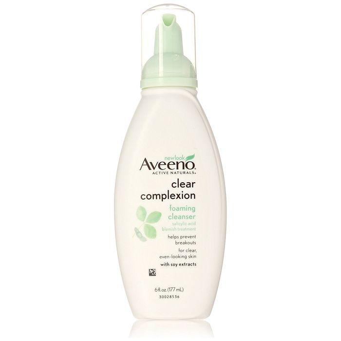 The Ten Best Face Cleansers For Sensitive Skin- #6 Aveeno Clear Complexion Foaming Cleanser #rankandstyle