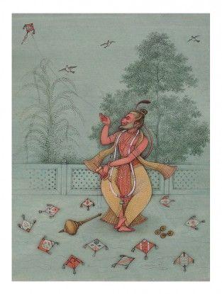 Lord Hanuman Printed Artwork on Paper - Mahaveer Swami