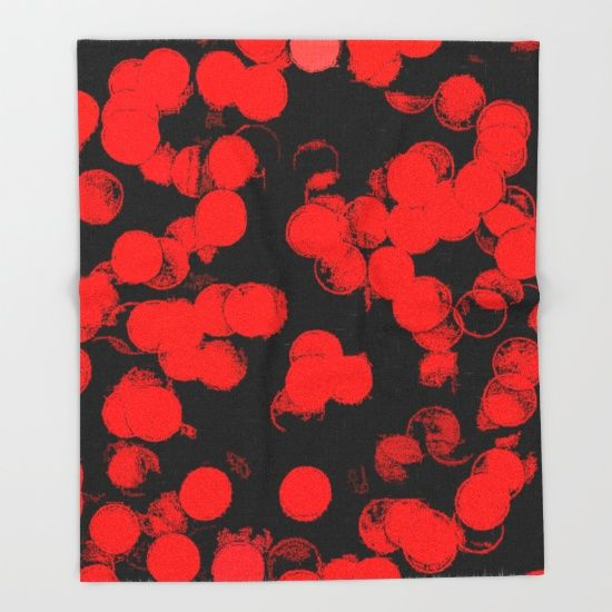 Red Dots Pattern Throw Blanket