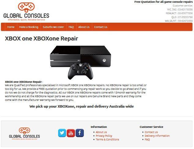 XBOX one XBOXone repair center Australia wide XBOX one repairs