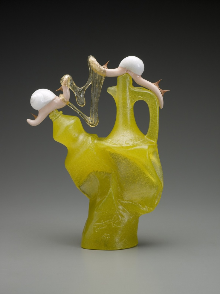 Salvador Dalí, L'Important c'est la Rose, 1967, glass, glazed ceramic, rose thorns
