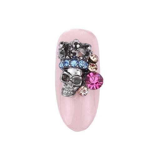 rhinestone nail design