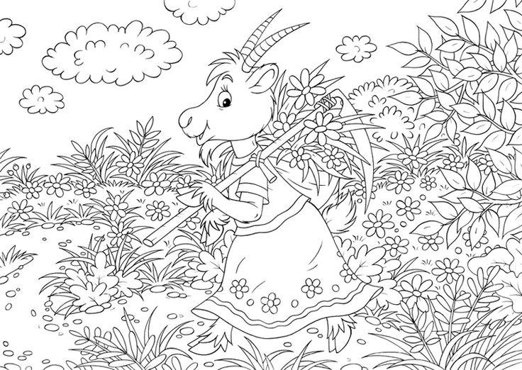 ausmalbild märchen kostenlose malvorlage geisslein aus