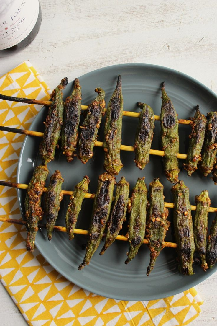 Grilled Curry Okra – The Fitchen