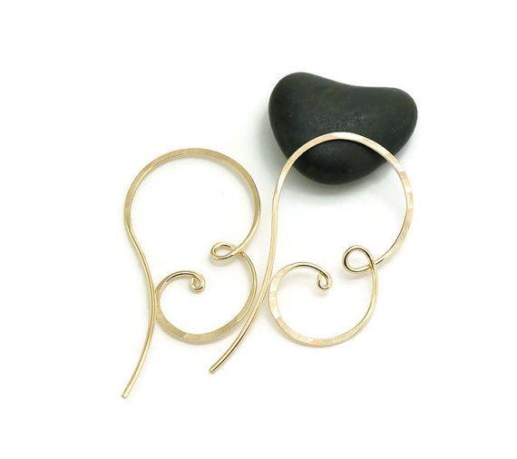 Gold hoop earring 14k gold filled hoop earrings by atelierblaauw