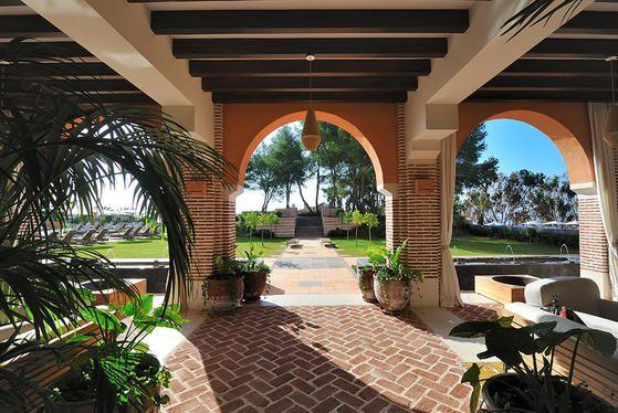 Beautiful gardens at Estrella del Mar Hotel Marbella