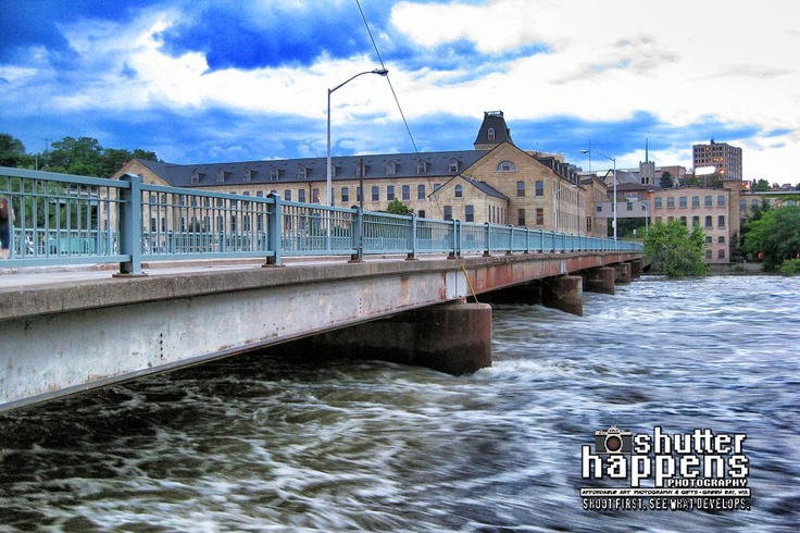 'Over The Fox River' by Mark David Zahn Photography (formerly Shutter Happens Photography).  Taken on the Fox River in Downtown Appleton Wisconsin.