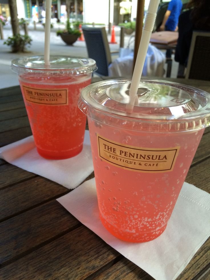 Italian soda @ Peninsula Cafe