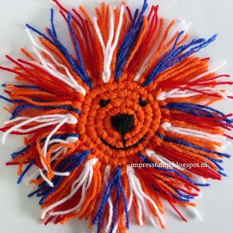Haken voor oranje/ wk 2014/ crochet WK 2014 soccer, gratis patroon, oranje leeuwtje, medaille, free pattern, medal