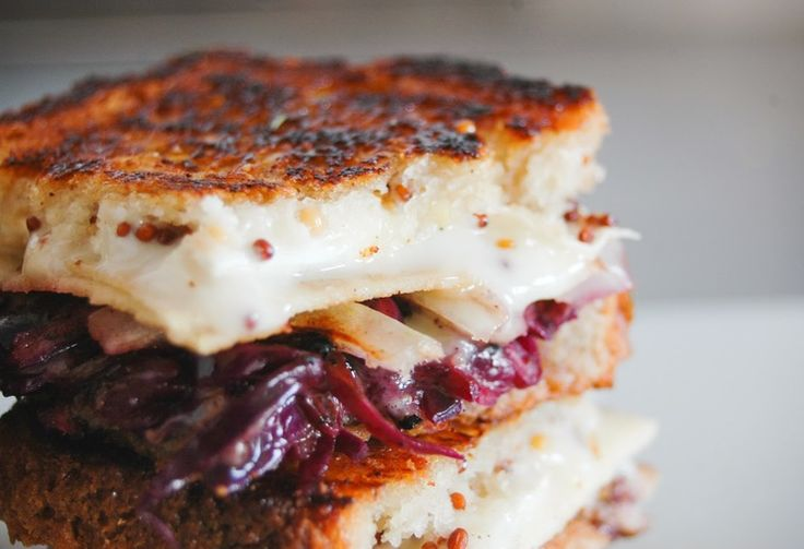 pork chop, schnitzel, red cabbage, cheese, apple, cinnamon, recipe, best grilled cheese, sandwich, gluten free, glorious sandwiches,
