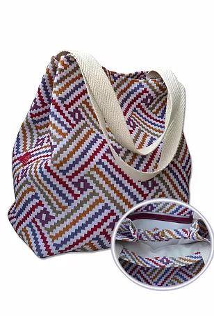 luda bolsas de tela estampada hechas a mano