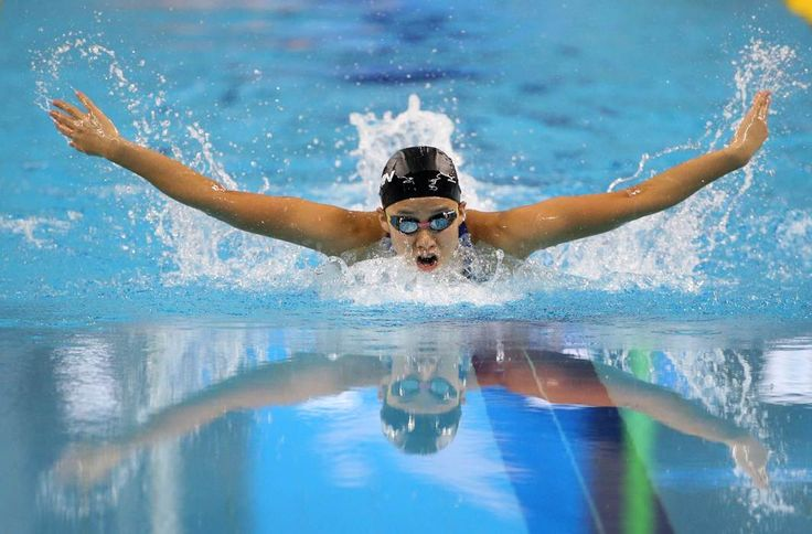 Japan's Kanako Watanabe swims in the women's 200-meter individual medley final at the 17th Asian Games in Incheon, South Korea, Friday, Sept. 26, 2014. (AP Photo/Rob Griffith)