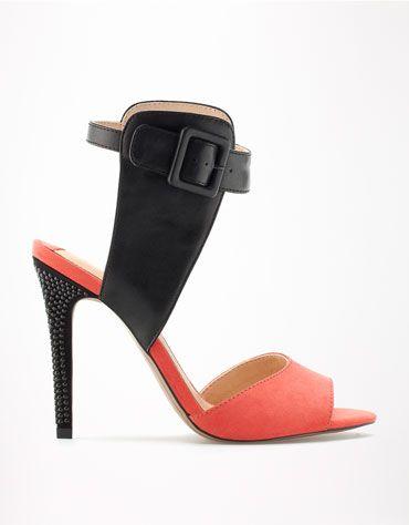 Bershka Российская Федерация - Комбинированные сандалии Bershka с украшениями на каблуке