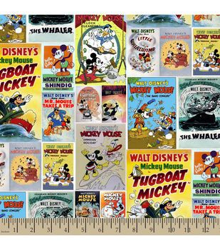 Disney® Mickey and Friends Posters Cotton Fabric