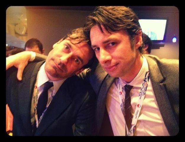 John Hamm and Zach Braff