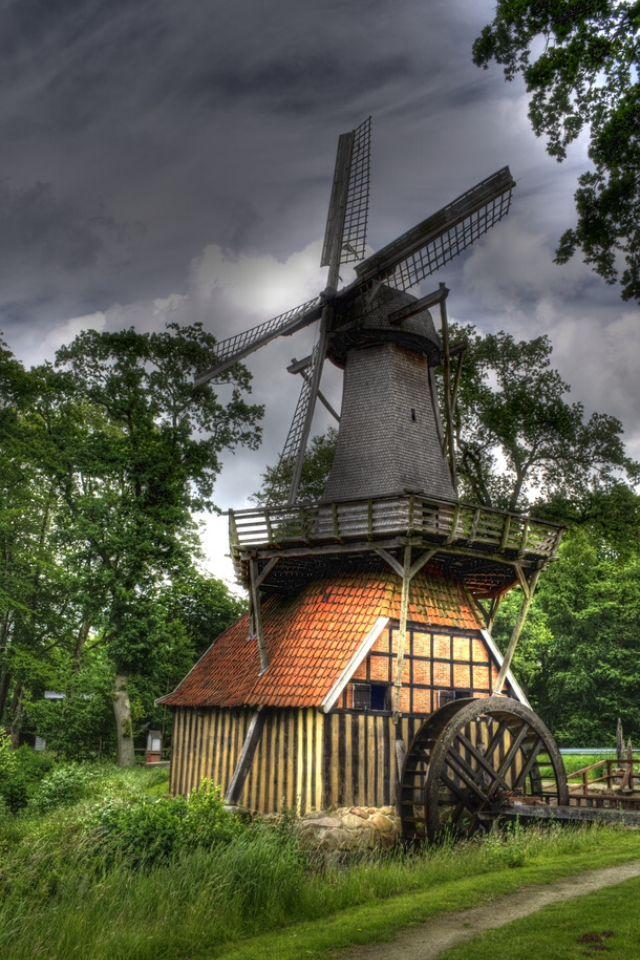 Hüven (Niedersachsen) - Die Hüvener Mühle →  Wind- und Wassermühle. Emsland.