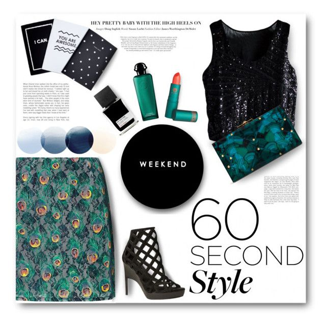 Daytime Sequins by miryoserra on Polyvore featuring polyvore, fashion, style, Louche, Burberry, Rafe, Hermès, Lipstick Queen, MiN New York, Chloé and clothing
