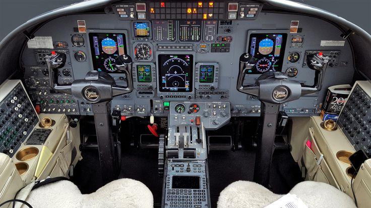 Cessna Citation Encore Jet Cockpit And Instrument Panel
