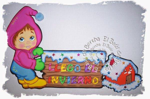 ✿.。.:* BERTHA MANUALIDADES  *.:。✿: LleGó El InViErNo ....