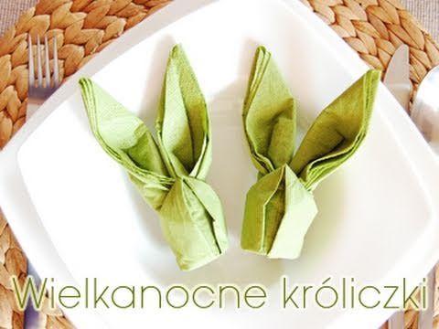 Na Wielkanoc jak znalazł, nawet dzieci mogą złożyć :). http://pozytywnakuchnia.pl/serwetka-kroliczek/