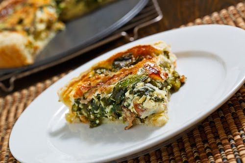 Asparagus and Spinach Quiche | Recipe | Bacon, Asparagus and The o ...