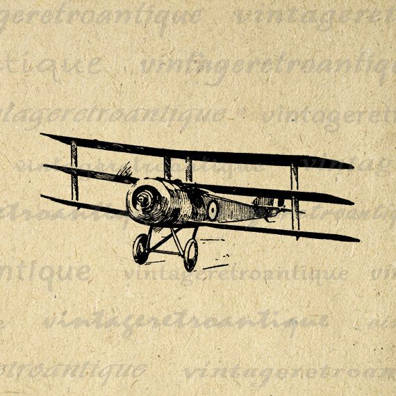 Digital Graphic Vintage Airplane Download Triplane Image Antique Printable Clip Art. Vintage high quality digital image for making prints, fabric transfers, tote bags, t-shirts, and other great uses. Personal or commercial use. This image is high quality, high resolution at 8½ x 11 inches. A Transparent background png version is included.