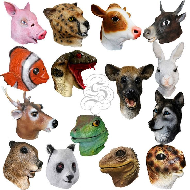 Latex Realistic Animal Head Cospaly Masquerade Fancy Dress Props Carnival Masks