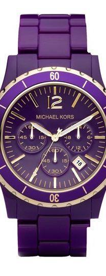 PURPLE Michael Kors watch  OBSESSED.