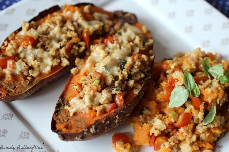 Herbstrezept - Vegetarisch gefüllte Süßkartoffel ~ Beauty Butterflies